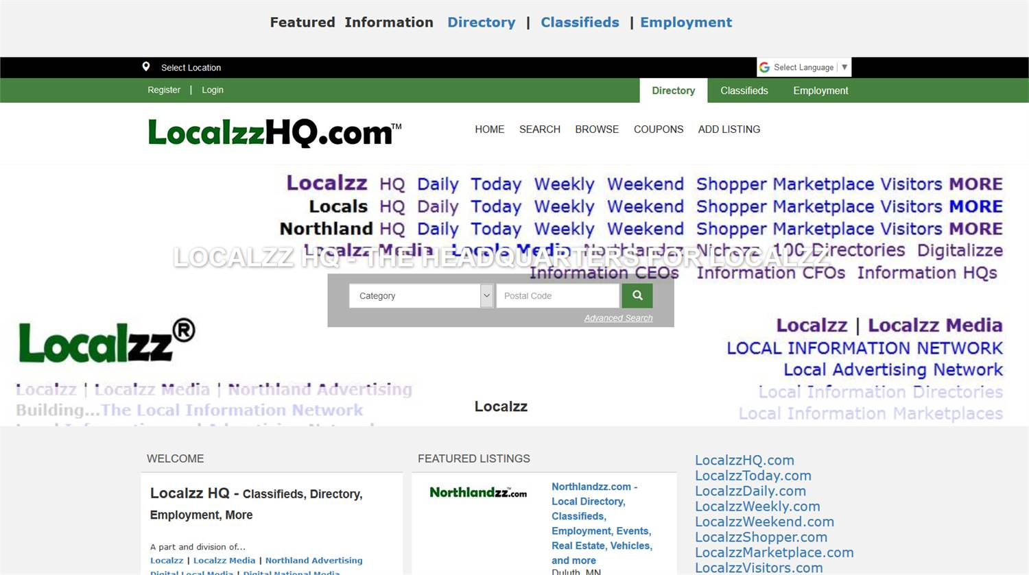Localzz HQ - LocalzzHQ.com - The Headquarters for local information